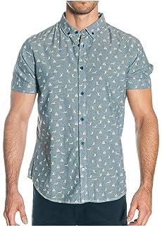 ALPHADVENTURE Camisa con Estampado Floral Samisami para Hombre Blanca: Amazon.es: Ropa y accesorios