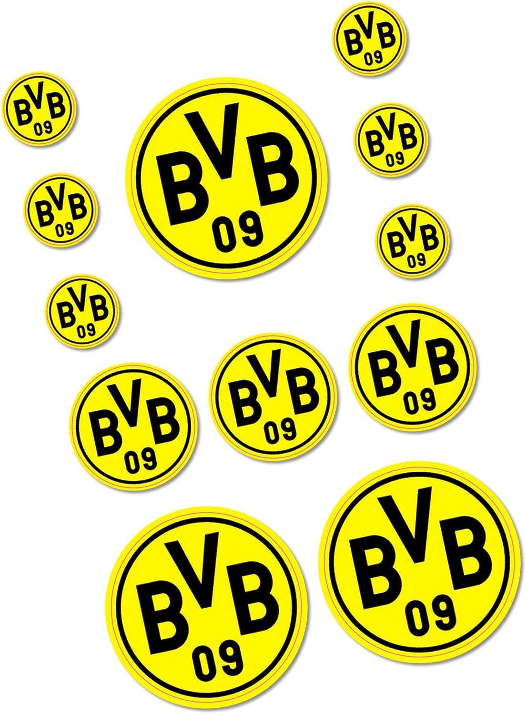 plus gratis Aufkleber forever Dortmund Aufkleber Sticker 12er Set BVB 09 Borussia Dortmund Autoaufkleber