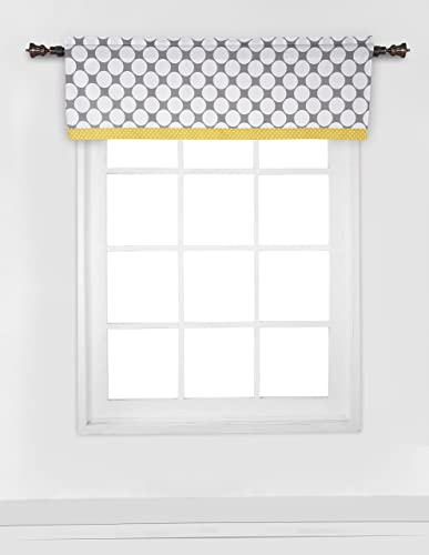 Bacati – Dots pin Stripes Grey Yellow Window Valance