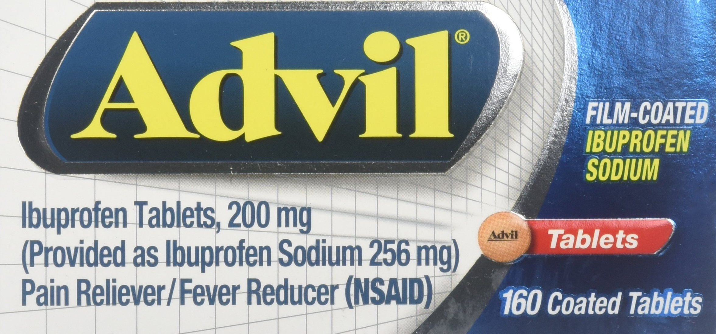 Advil Film-Coated Ibuprofen Tablets, 200mg-160 ea by Advil