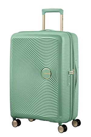 American Tourister Soundbox - Spinner Medium Expandable Equipaje de Mano, 67 cm, 81 Liters, Verde (Almond Green/Gold): Amazon.es: Equipaje