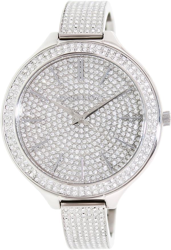 5acc8b05c128 Michael Kors MK3250 Slim Runway Glitz Crystal Bangle Ladies Watch  Michael  Kors  Amazon.co.uk  Watches