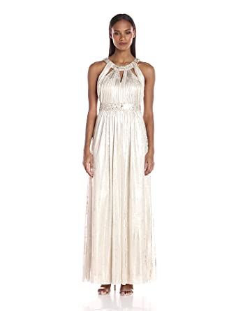 8135e0f46208 Jessica Howard Women's Gown with Cutout Neckline at Amazon Women's ...