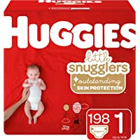Huggies Little Snugglers Baby Diapers, Size 1, 198 Count