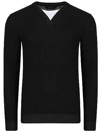 Dissident Herren Asymmetrischer Pullover Schwarz schwarz Small: Amazon.de:  Bekleidung