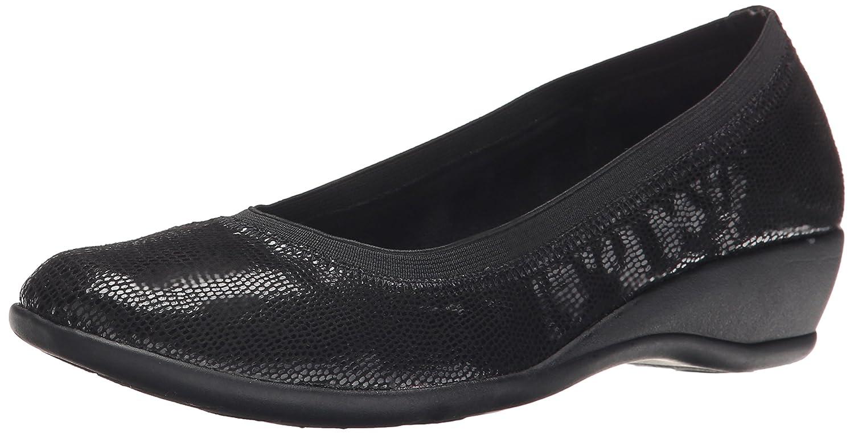 Soft Style by Hush Puppies Women's Rogan Flat B00S41KP5C 8 N US|Black Lizard