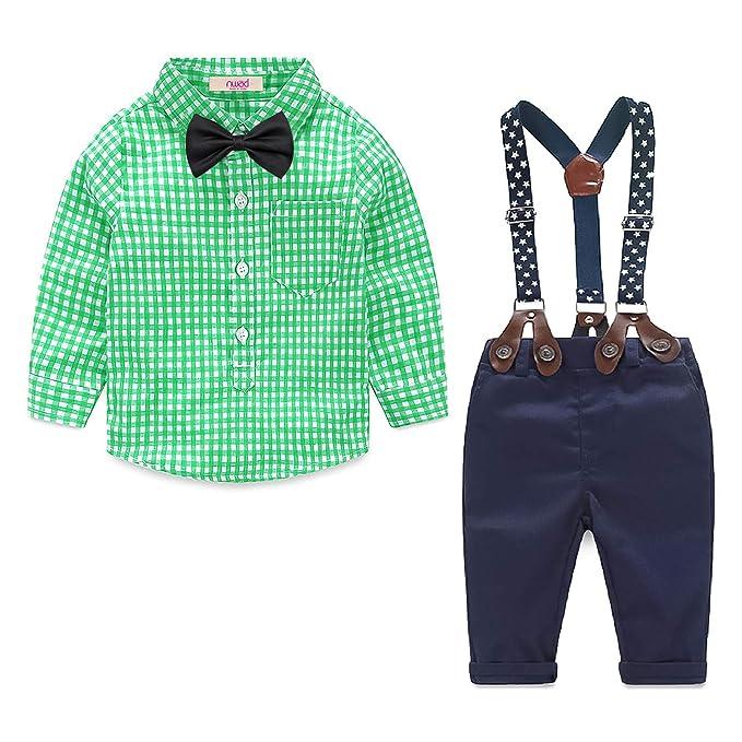 Yilaku Bebés Juego de Ropa Camisas y Pantalones Conjunto para Bebé ...