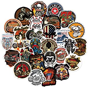 Funny Knight Harley Motorcycle Stickers Pack,Cool Stickers Decals for Laptop Waterbottle Computer Flasks Motorcycle Bicye Bike Motocross,100 Pcs Aesthetic Stickers for Kids Teens Boys Girls Adults