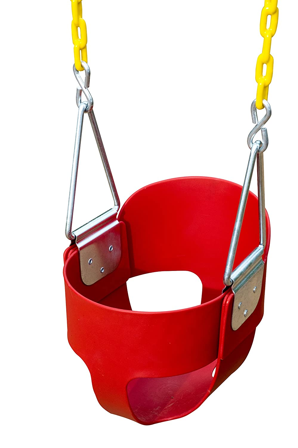High Back Full Bucket Toddler Swing Seat with Plastic Coated Chains - Swing Set Squirrel Products