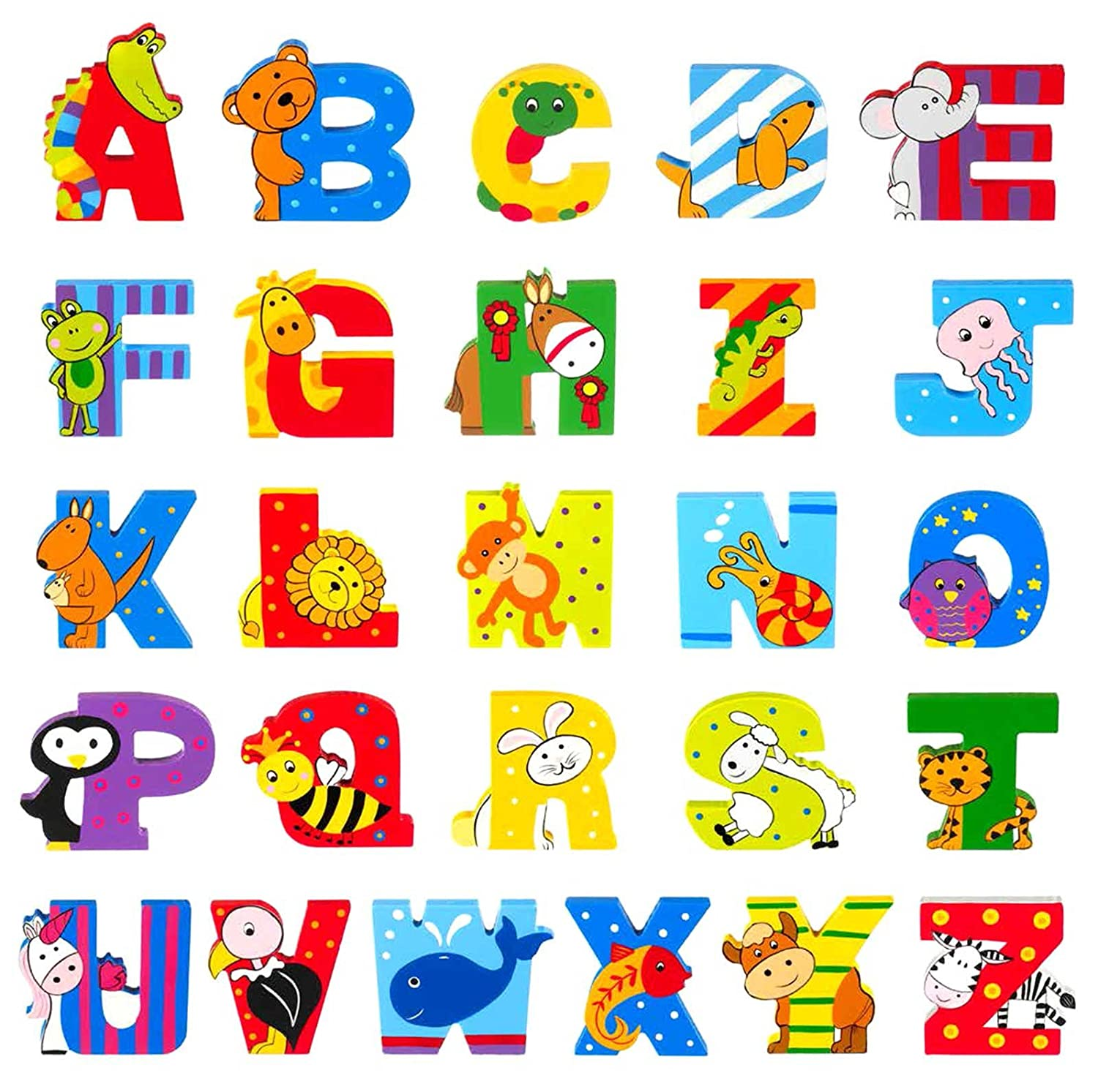 Wooden Letter A for Alligator Orange Tree Toys