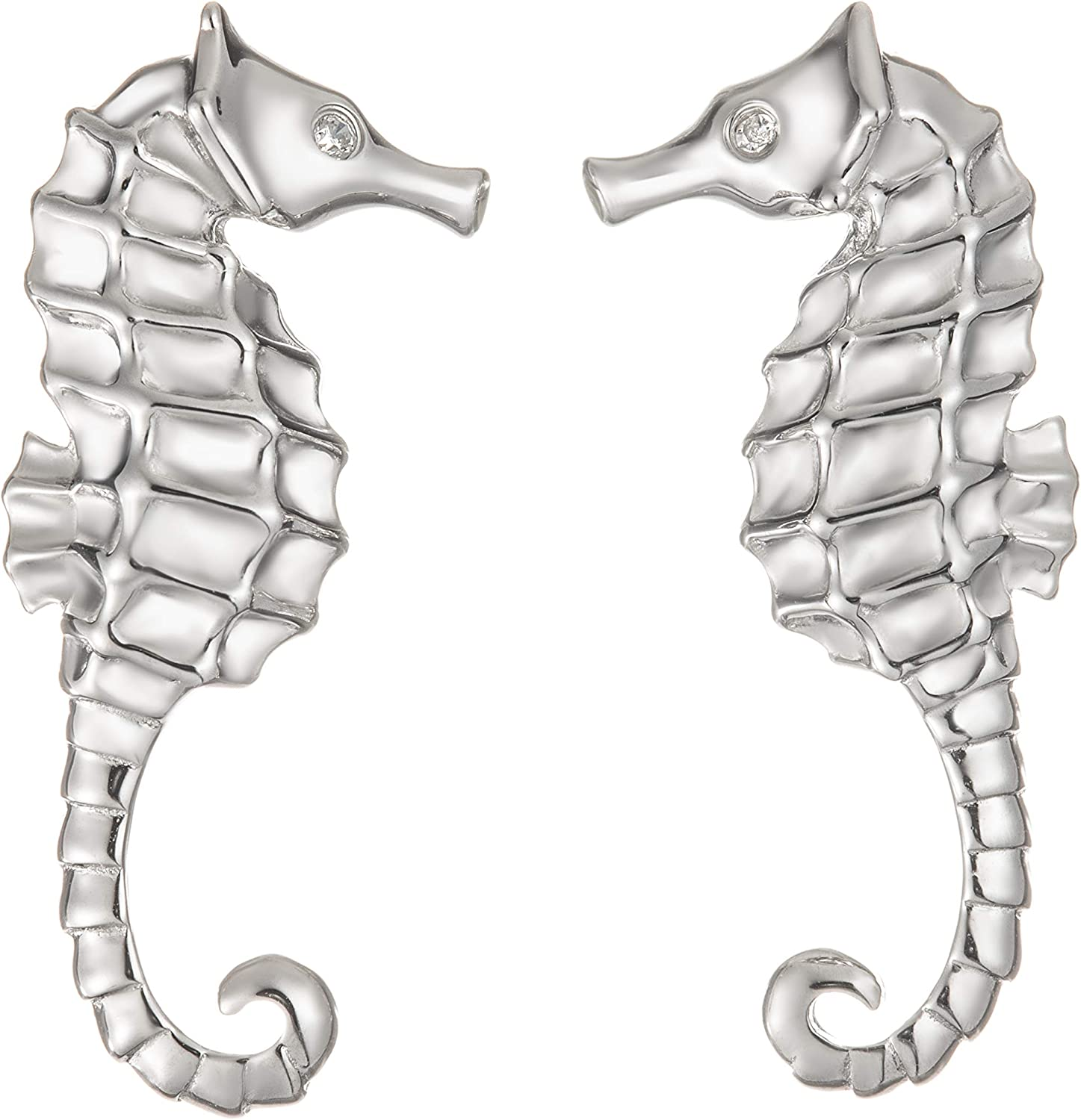 Sterling Silver ear studs Seahorse /'Oceans and Ice/' collection Tiny seahorses Exclusive design Eco-friendly Natural or Black silver.