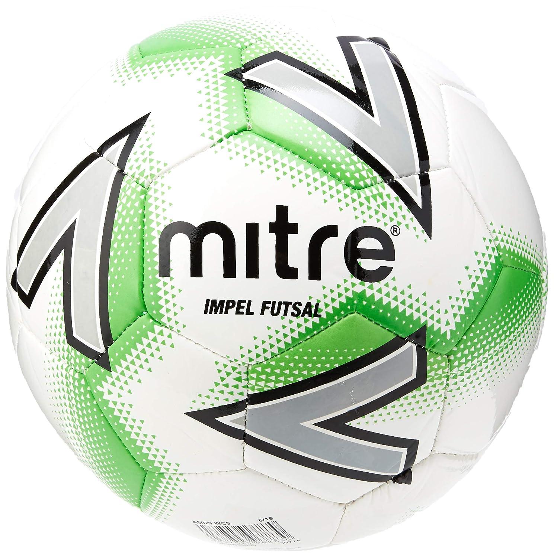 Mitre Impel Futsal Balón de fútbol, Unisex Adulto, White/Green, 3 ...