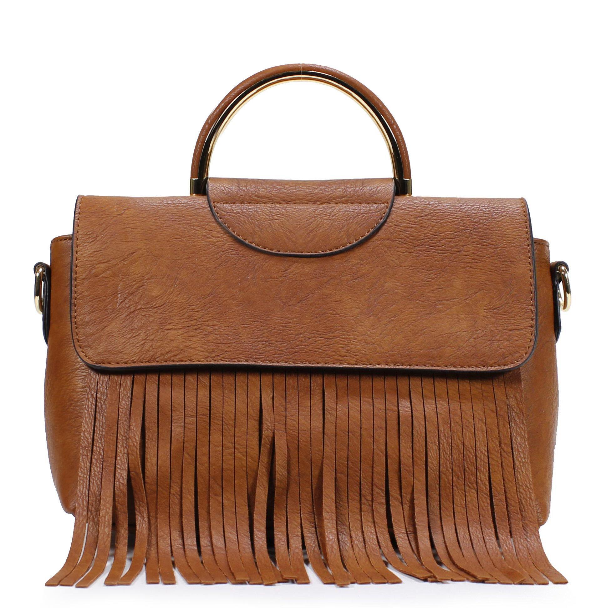 Scarleton Stylish Amerind Style Satchel H185804 - Brown