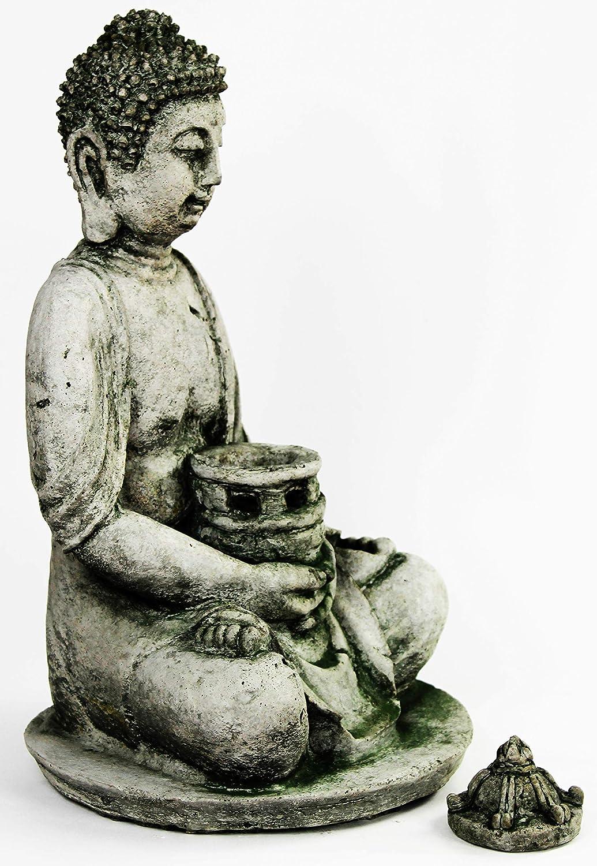 Amazon Com Buddha Lantern Garden Statue Concrete Asian Sculpture Garden Outdoor