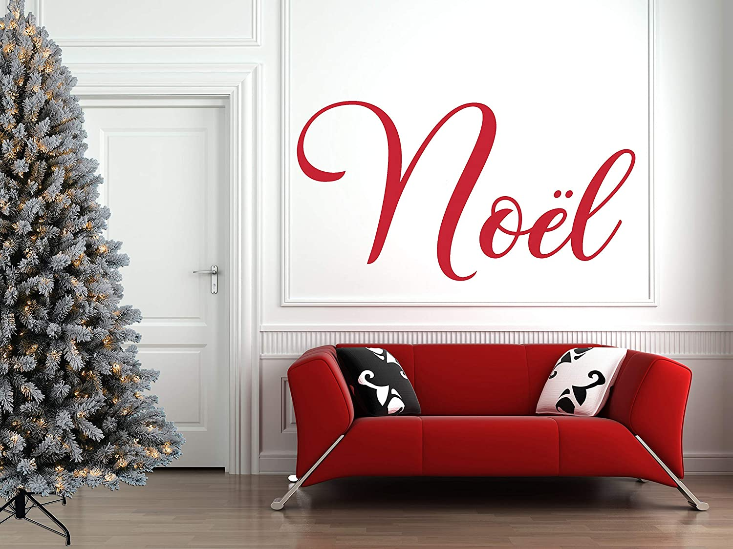 Family Room Decor or Home Decoration Christmas Wall Decal Noel Holiday Vinyl Stickers for Living Room