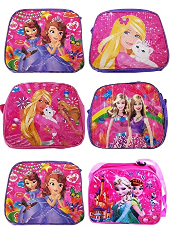 5233a3a74 Baal Combo of 6 Pcs Cartoon Printed School Bags and 6 Pcs Stationary Kit  for Kid