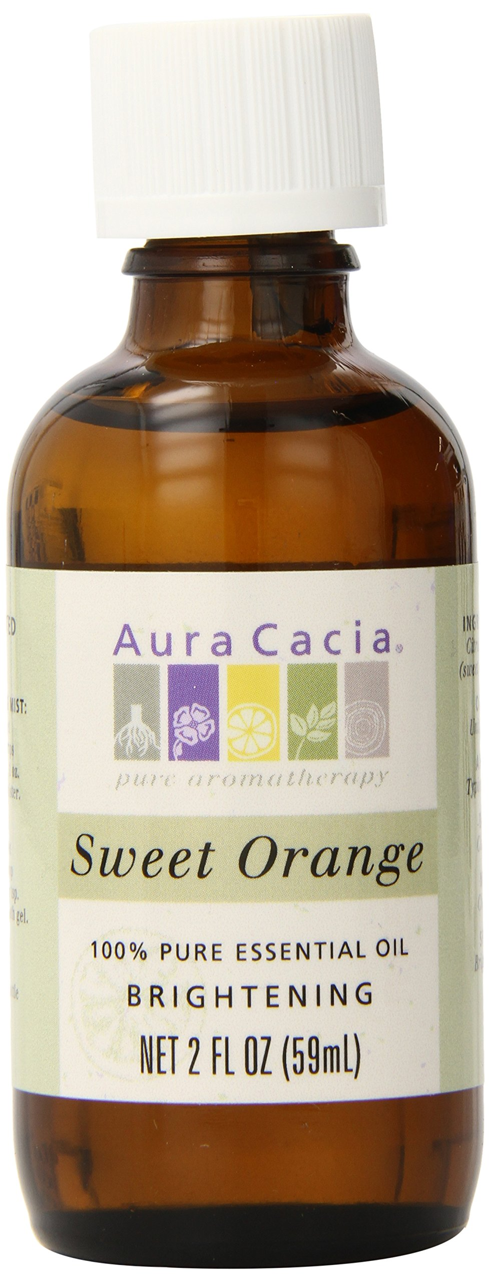 Aura Cacia Essential Oil, Brightening Sweet Orange, 2 fluid ounce
