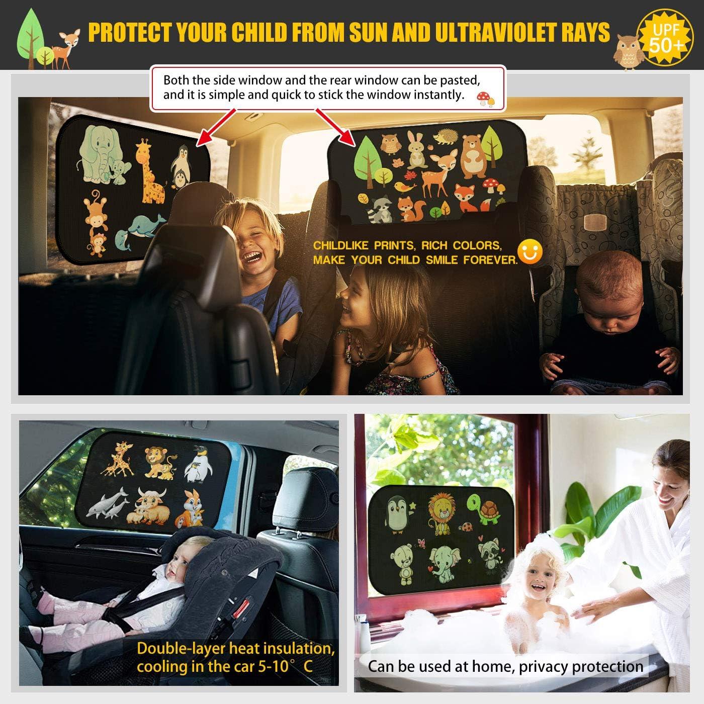 astarye Solar Protection Car Sunshade Side Window Windscreen Roof Window for Children Adults Adsorption Electrostatic