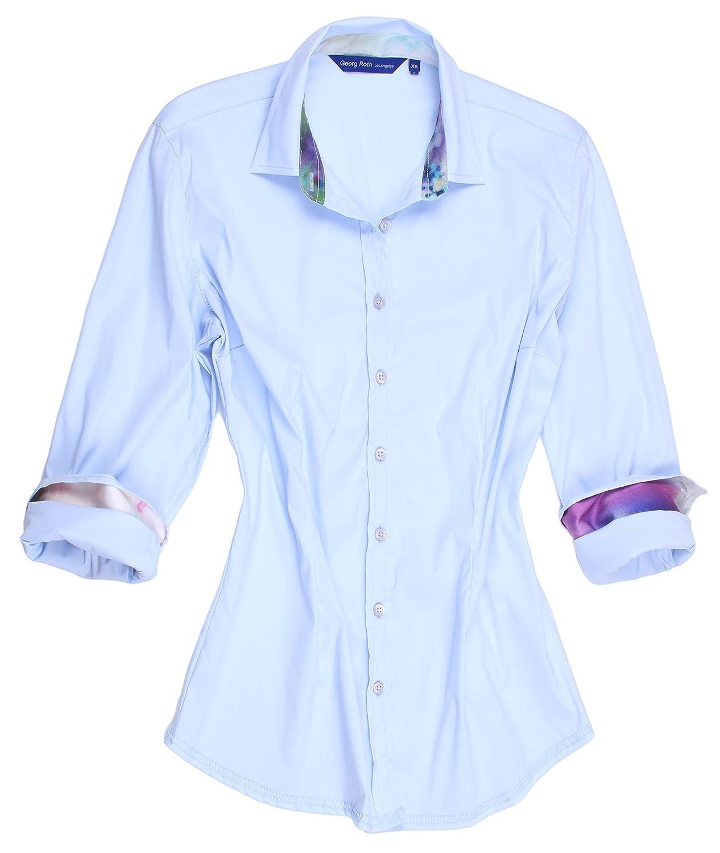 6c7c9706ac9 Georg Roth Los Angeles Women s Plus Size Galina B80099-800 Long Sleeve  Blouse (2X) at Amazon Women s Clothing store