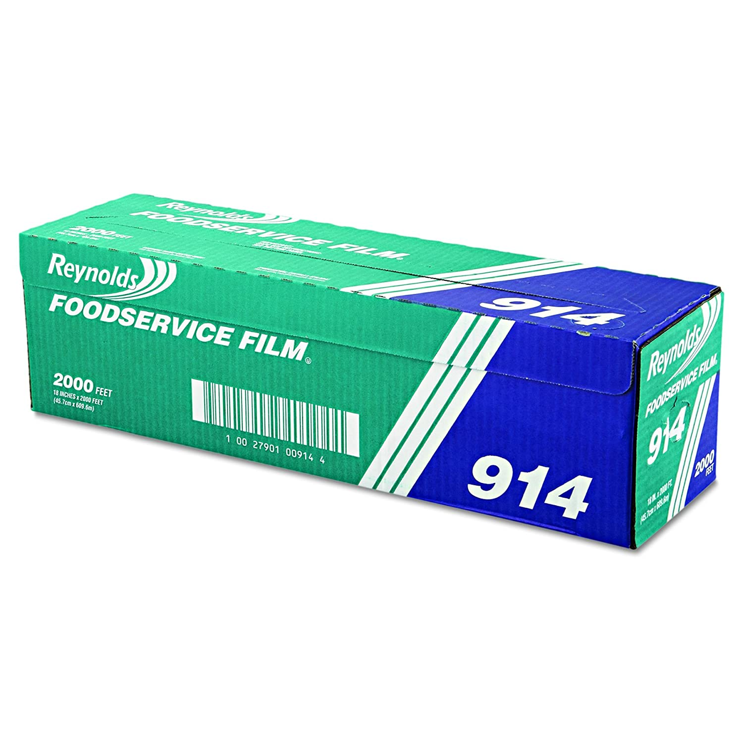 "Reynolds Wrap 914 PVC Film Roll w/Cutter Box, 18"" x 2000ft, Clear"