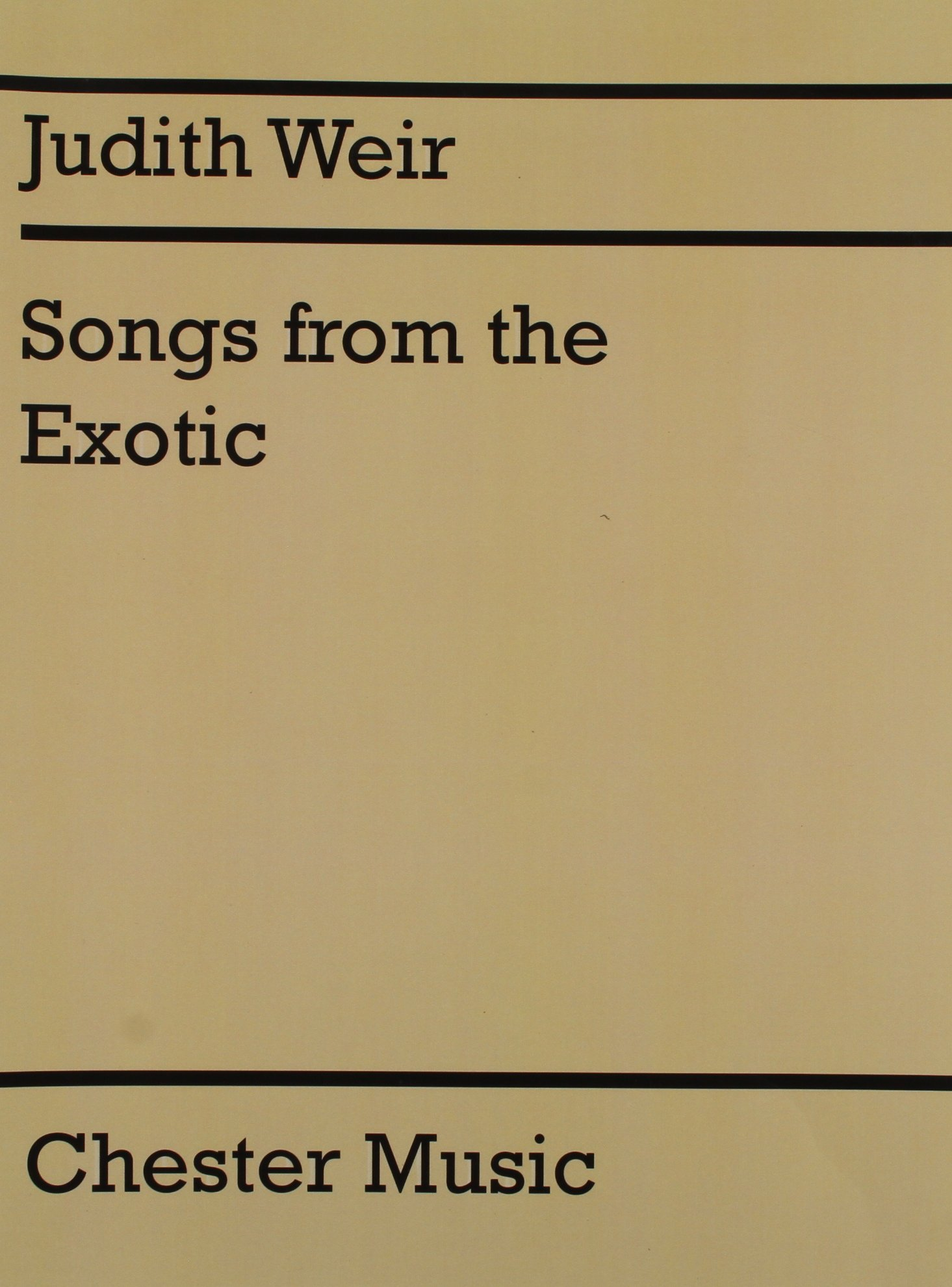 Read Online Judith Weir: Songs from the Exotic pdf