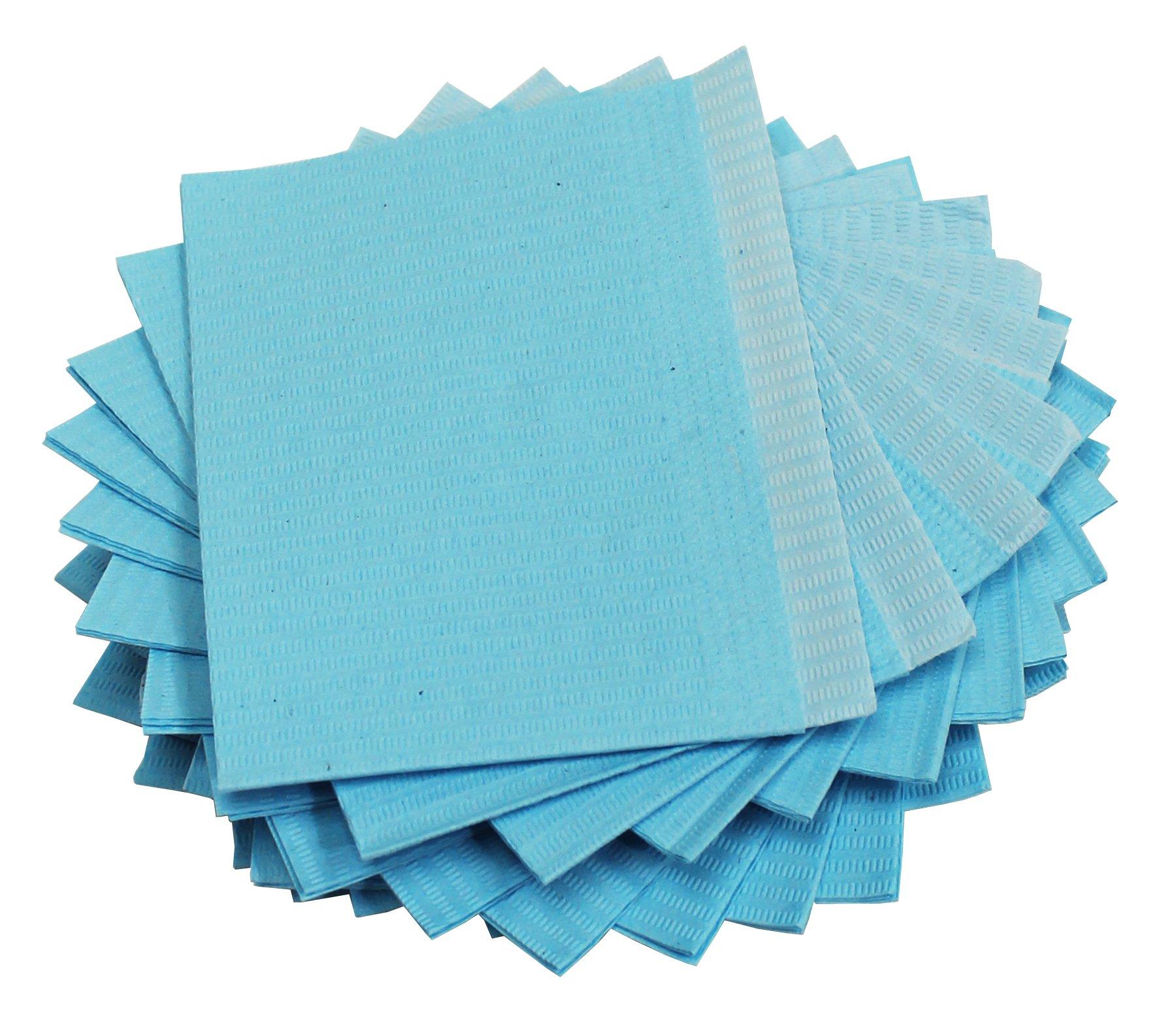 Adenna Dental Bibs/Lap Cloths, Blue (Box of 500) by Adenna