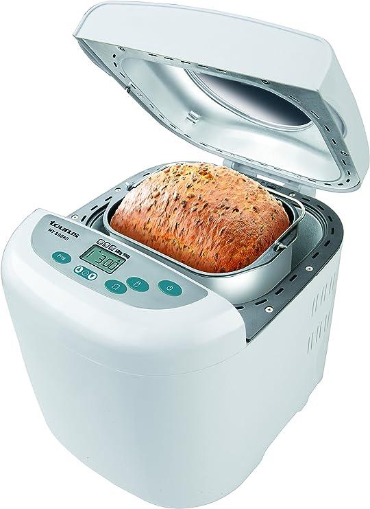 Taurus MyBread My Bread-Panificadora (12 programas predefinidos, 3 Niveles de Tostado, pies Antideslizantes, 700 W, Blanco: Amazon.es: Hogar