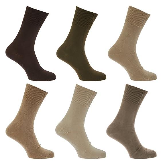 Calcetines para diabeticos sin elástico pero se mantiene arriba para hombre/caballero - Pack de 6 pares de calcetines