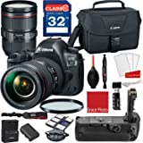 Canon EOS 5D Mark IV DSLR Camera w/ EF 24-105mm f/4L IS II USM Lens + Professional Accessory Bundle