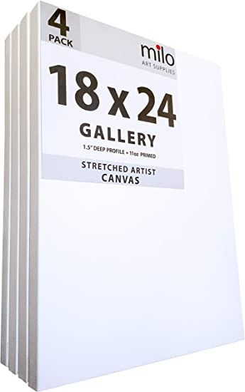 """6 pack 1.5/"""" Deep Stretched Canvas for Artists 12x12/"""""""