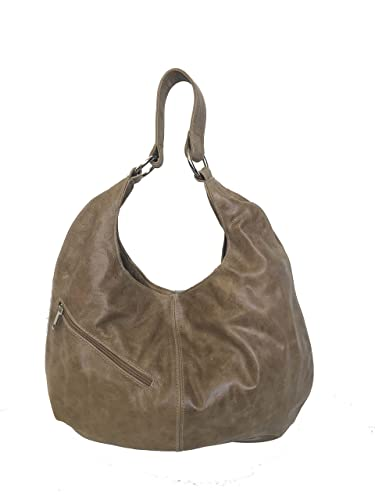 bf903a43fe5e Amazon.com  Fgalaze Distressed Leather Hobo Bag with Pocket