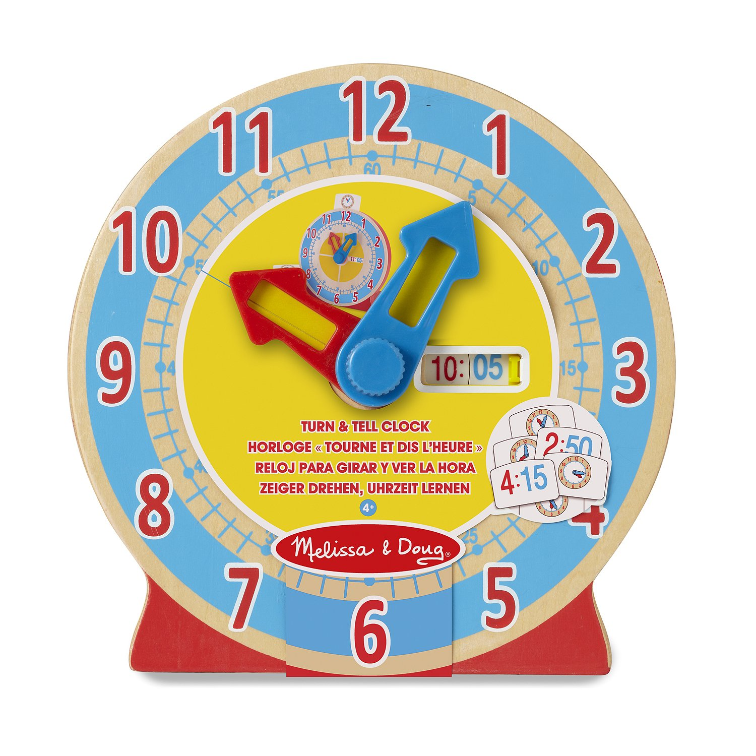 Melissa & Doug Turn & Tell Wooden Clock Educational Toy With 12