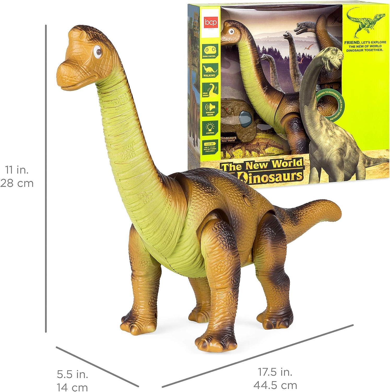 Light Up Dinosaur Electronic Walking Robot Roaring Interactive Dino Kids Toy AU