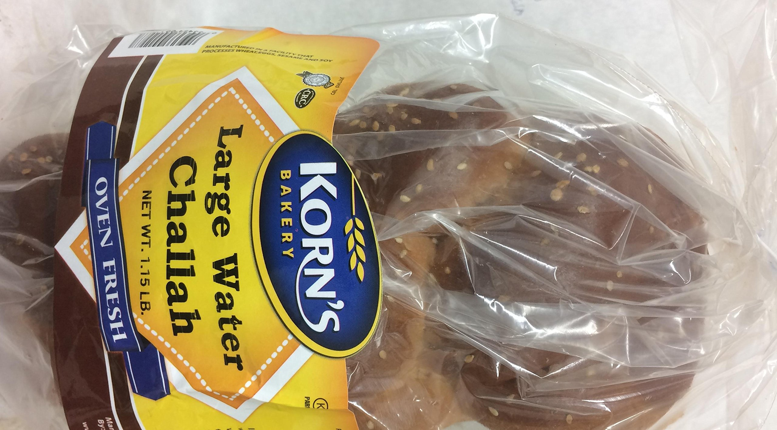 Korn's Large Water Challah 18.4 Oz. Pack Of 1.
