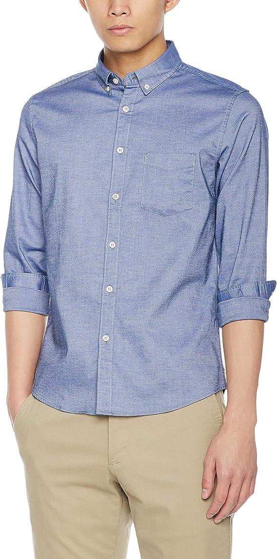 DEMON&HUNTER CS1 Seires Hombre Ajustado Oxford Camisa: Amazon.es ...