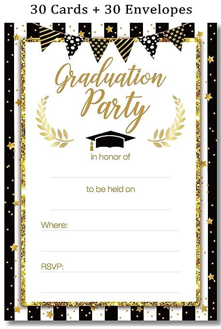 Amazon Com Graduation Party Invitations Cards With Envelopes 2019