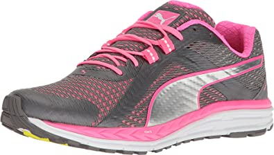 PUMA Women's Speed 500 Ignite Quiet Shade/Knockout Pink/Puma Silver  Athletic Shoe
