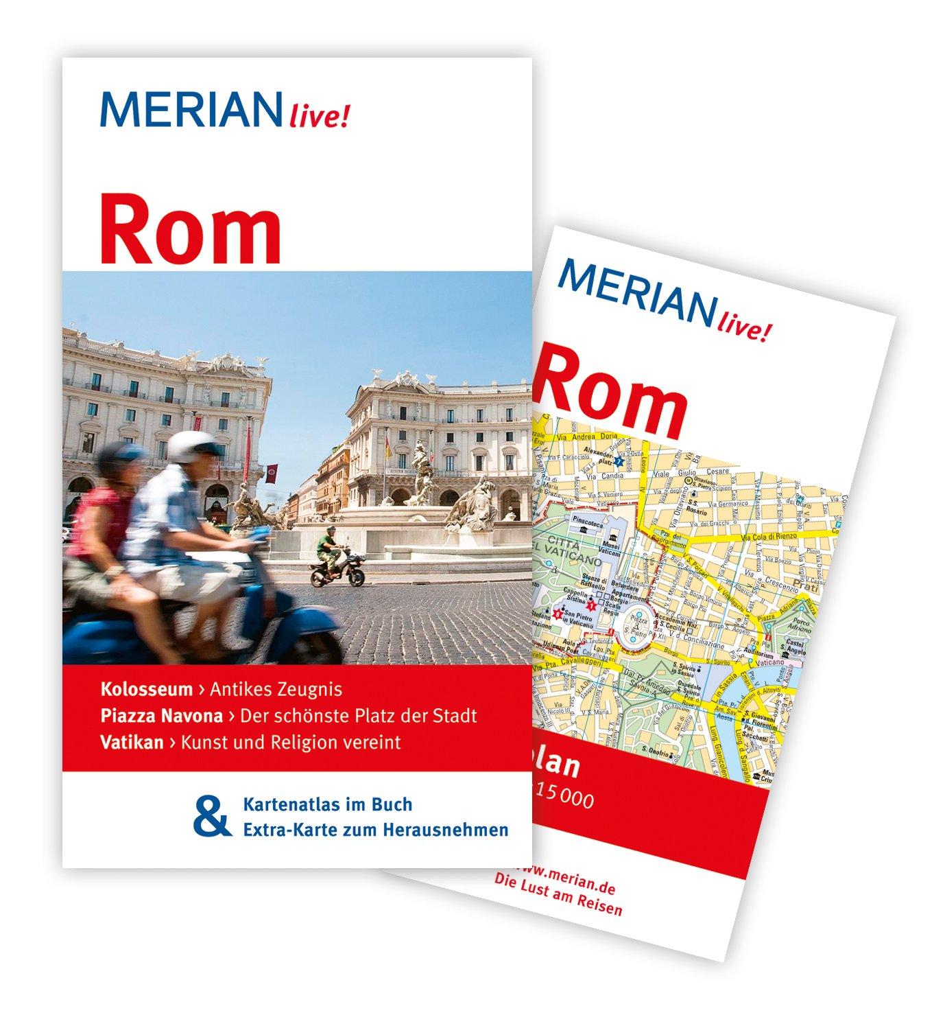 MERIAN live! Reiseführer Rom: MERIAN live! - Mit Kartenatlas im Buch und Extra-Karte zum Herausnehmen