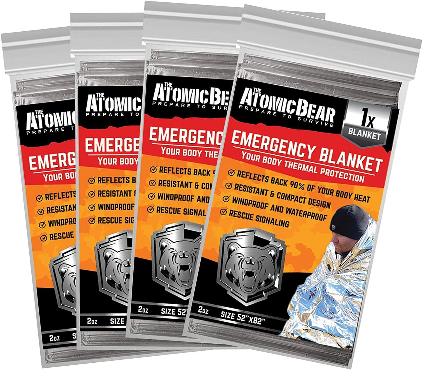 Details about  /Kangaroo Emergency Thermal Blankets Pack of 10
