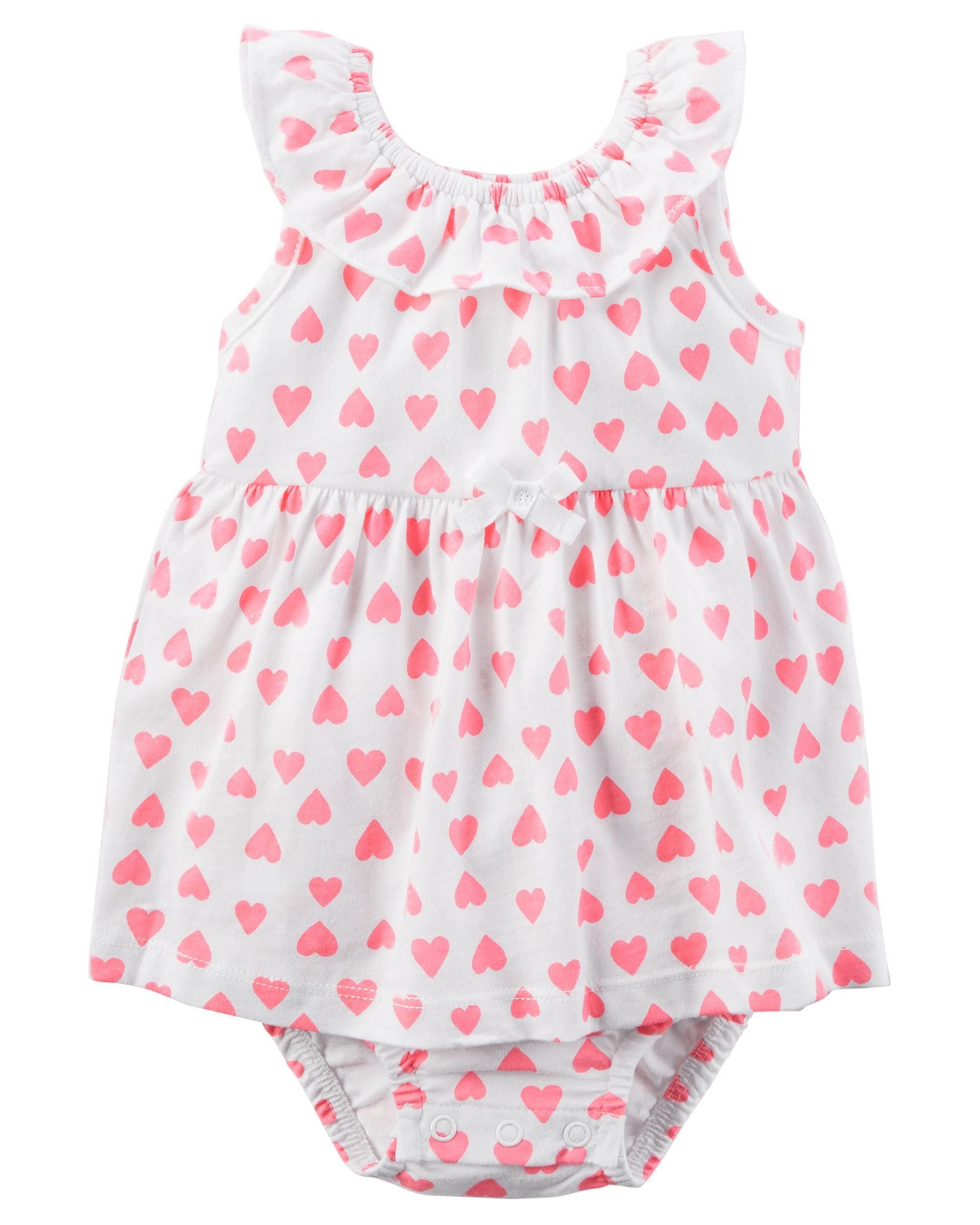 Carter's Baby Girls' Heart Sunsuit- Newborn
