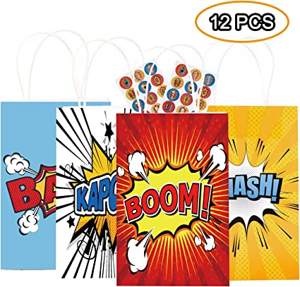 Amazon.com: Happy Storm Super Hero Party - Bolsa para ...