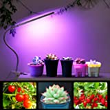Albrillo LED Grow Light 5W, 3 Dimmable Light Modes with 360° Flexible Gooseneck Desk Clip Plant Lamp for Indoor Plants Gardening Greenhouse Hydroponic