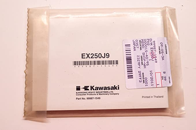Amazon.com: Kawasaki 99987-1549 Ninja EX 250 Motorcycle ...