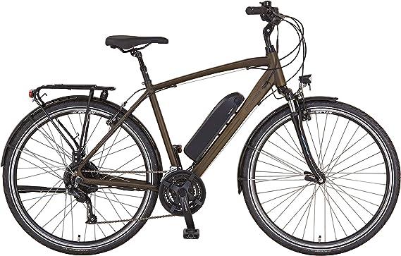 Prophete ENTDECKER e9.6 Trekking E-Bike - Bicicleta eléctrica para hombre (52 cm), color marrón oscuro mate: Amazon.es: Deportes y aire libre