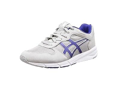 ASICS Shaw Runner, Sneakers Basses adulte mixte - Gris (light Grey/monaco Blue 1349), 37.5 EU
