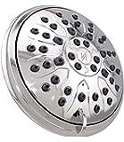 Vida Alegría 5-Inch SIMPLICITY Designer 2.5GPM Shower Head - 3 Sprays (Chrome)