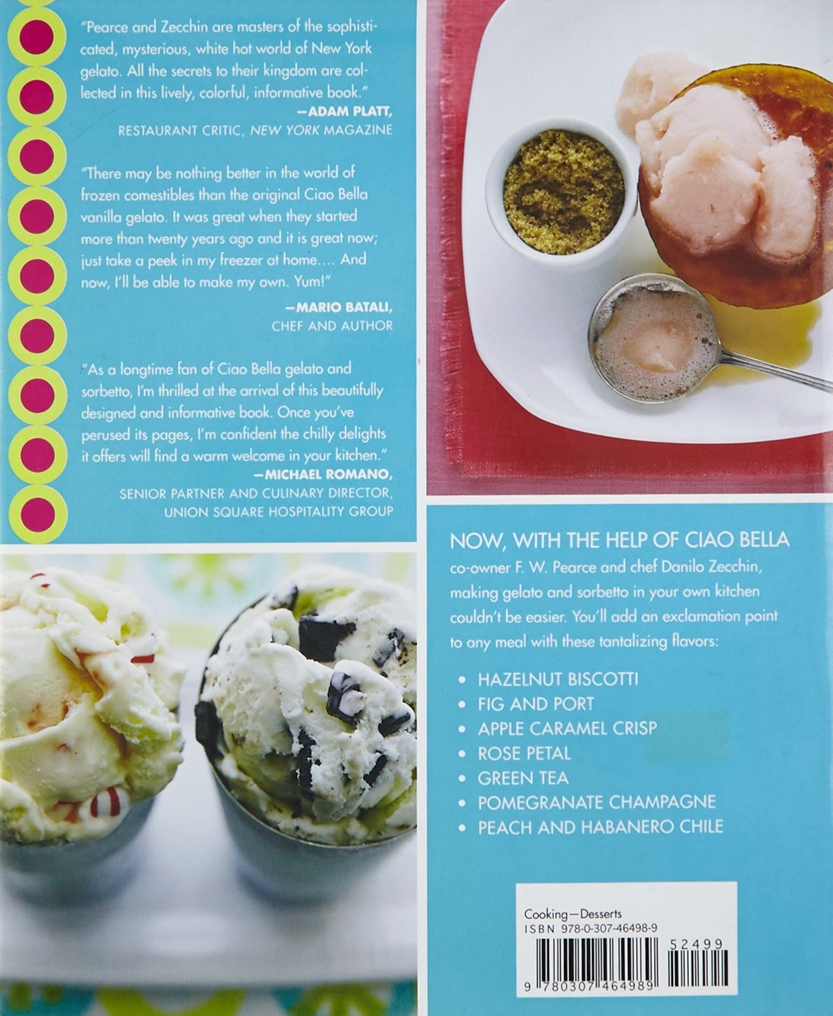 The Ciao Bella Book Of Gelato And Sorbetto: Bold, Fresh Flavors to Make at Home: Amazon.es: Pearce F. W.: Libros en idiomas extranjeros
