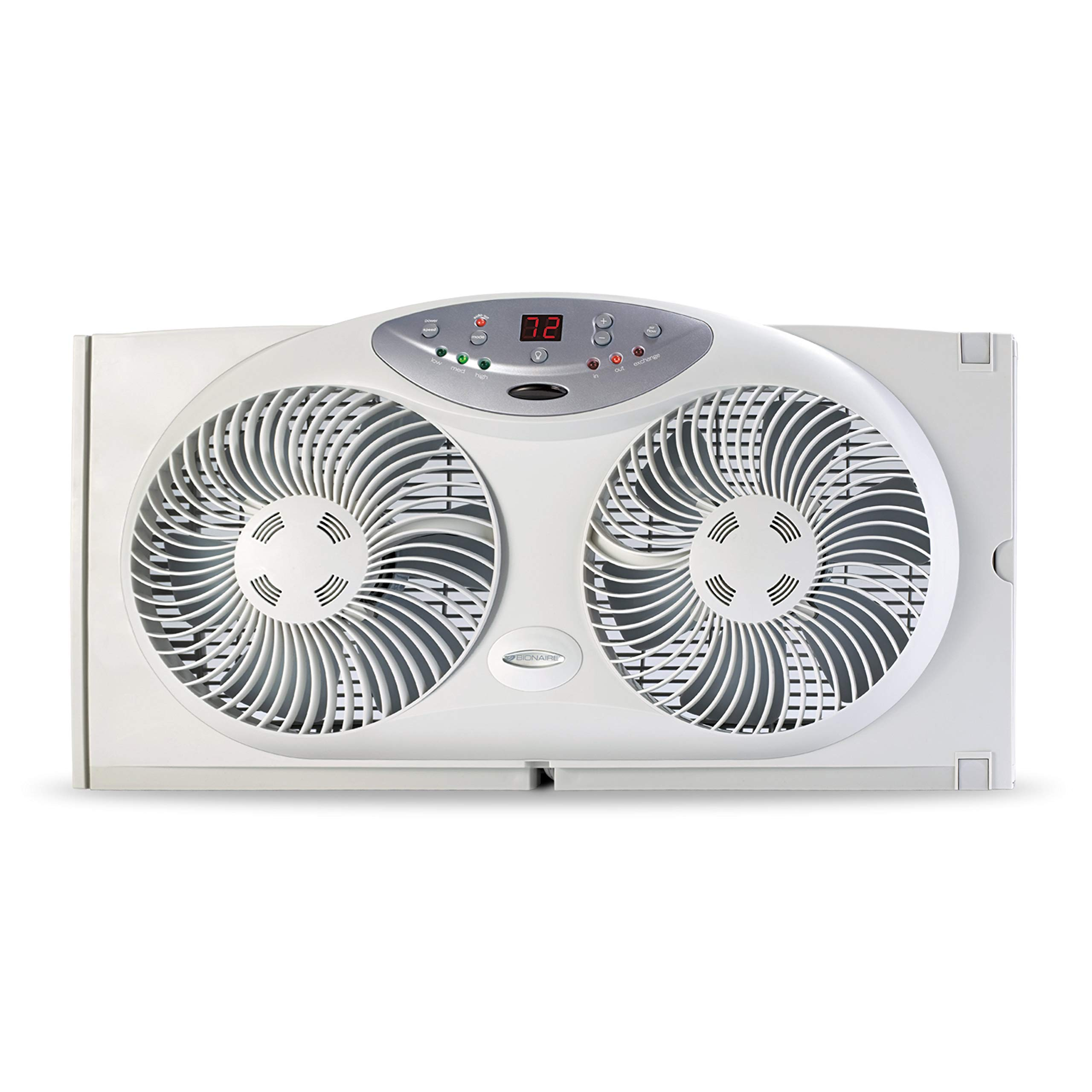 Bionaire BW2300-N Twin Reversible Airflow Window Fan with Remote Control (Renewed) by Bionaire