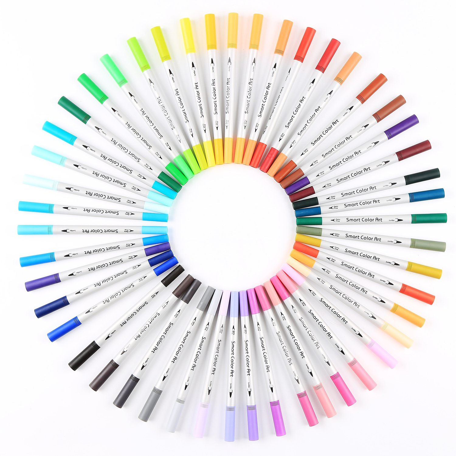 Color art st louis mo - Amazon Com Smart Color Art Dual Tip Brush Pens With Fineliner Tip 0 4 Art Markers 48 Unique Colors