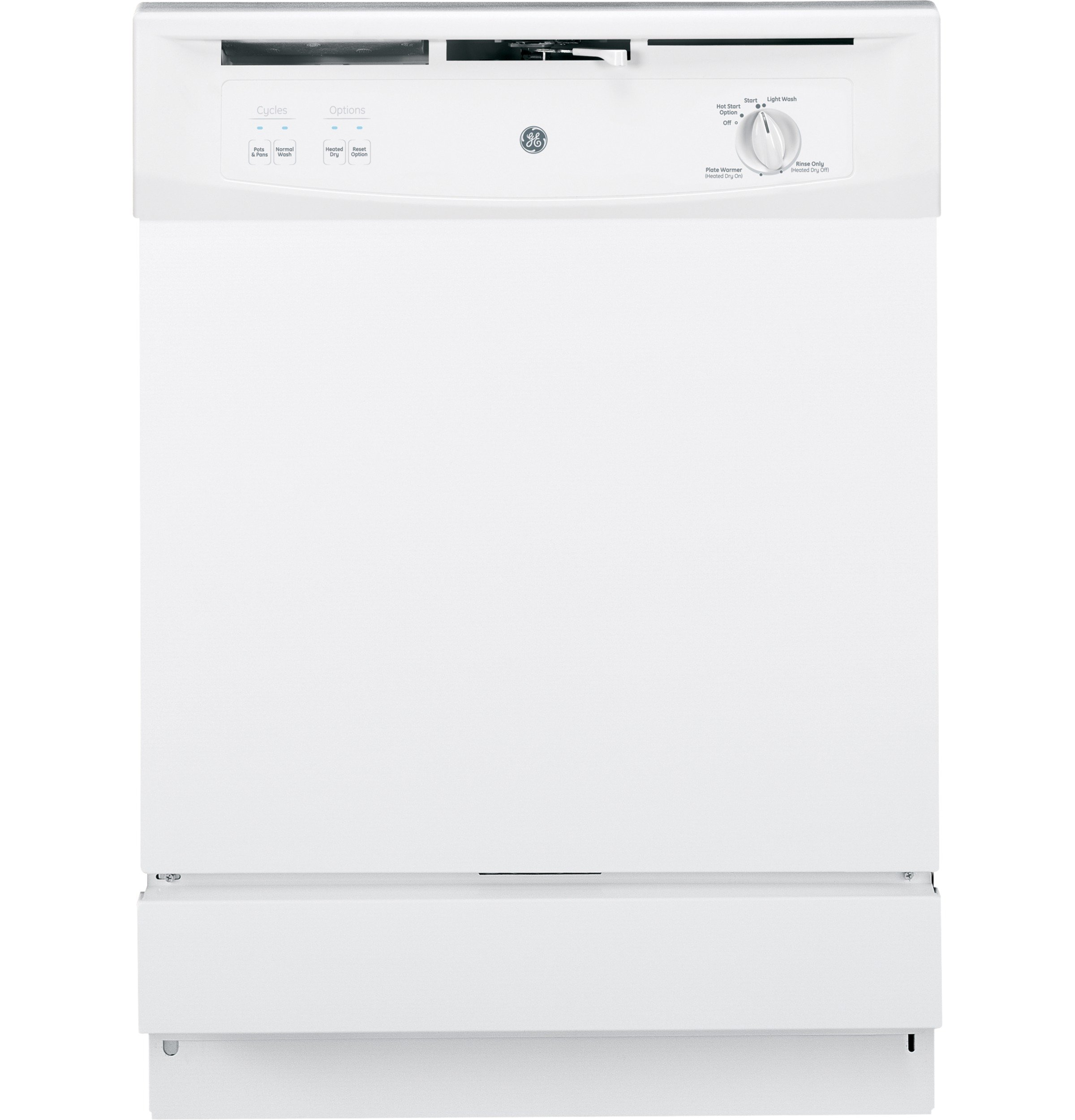 GE GSM2200VWW Spacemaker Under-The-Sink 24-Inch Dishwasher With Touchpad Controls, White, 5 Cycles / 2 Options by GE